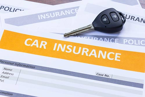 This image shows a car insurance form.