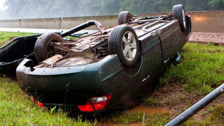 rollover crash in Little River
