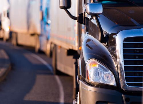 large truck semi-truck accidents concept